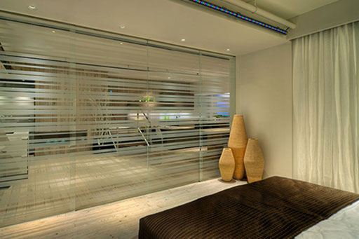 New York Loft, Privacy Glass, Custom Printed Glass