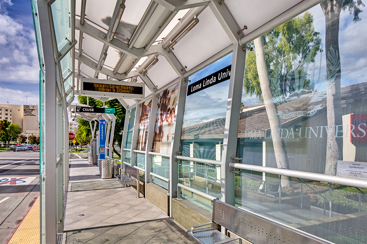 Printed Glass | sbX Transit Stations